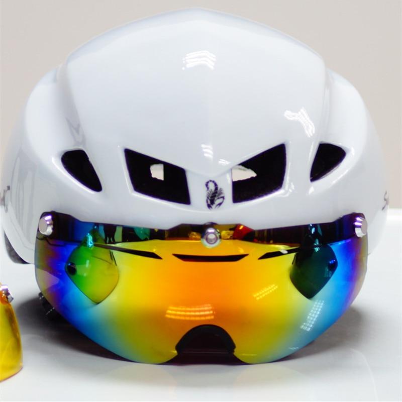 Mens cycling helmet lens visor spare 3 version Cycling Glasses spare Bicycle helmet Sunglasses spare Cycling Eyewear Bike Lentes
