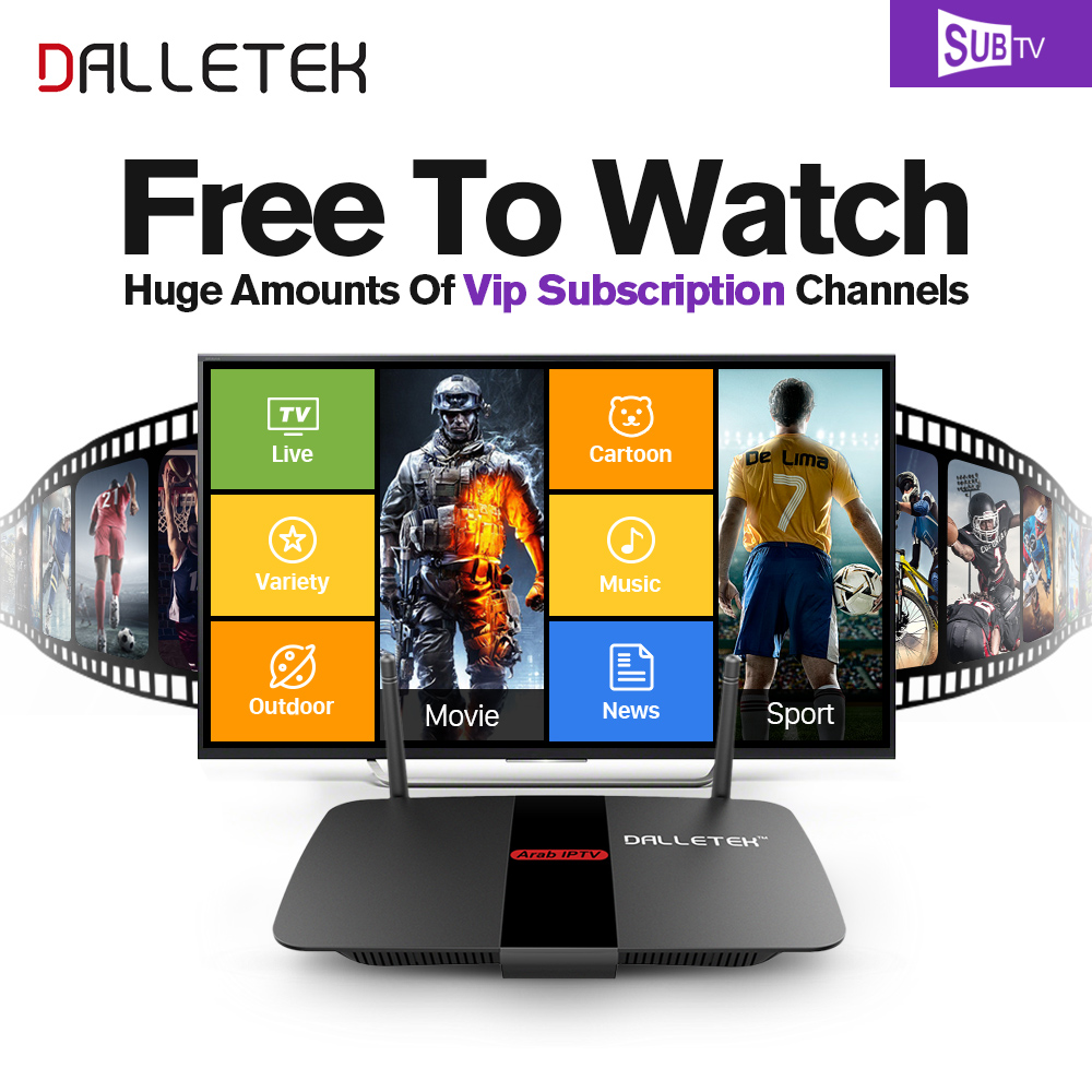 Android 6.0 TV Box RK3229 Quad Core WIFI HDMI 4K*2K Smart Set Top Box Dalletektv IPTV 1 Year SUBTV Code French Arabic IPTV Box hot x96 tv box 2gb 16gb s905x quad core 2 4ghz wifi hdmi smart set top box with iudtv iptv abonnement french arabic iptv top box