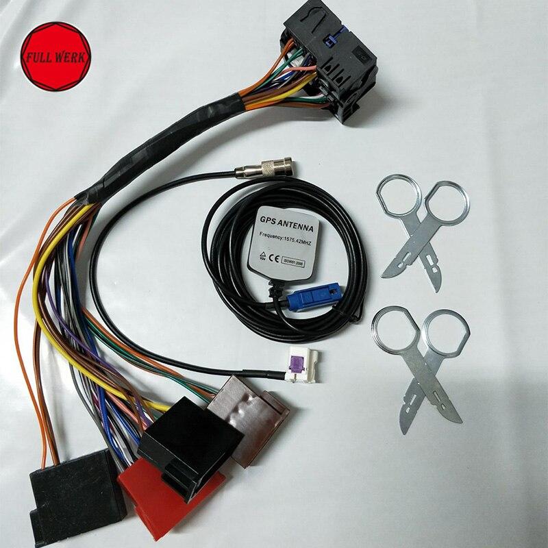 Набор из 1 RNS-E BOSE навигационной системы, вилка и игровой адаптер, Модернизированный комплект для Audi A3 A4 A6, аксессуары