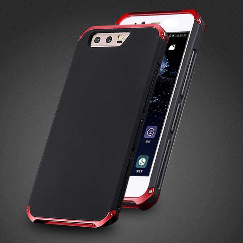 free shipping f3a9d b7133 Aluminum Metal Bumper Case For Huawei P10 Plus Hard Cover For Huawei Mate  10 Shockproof Cover For Huawei P10 Case 360 Protection