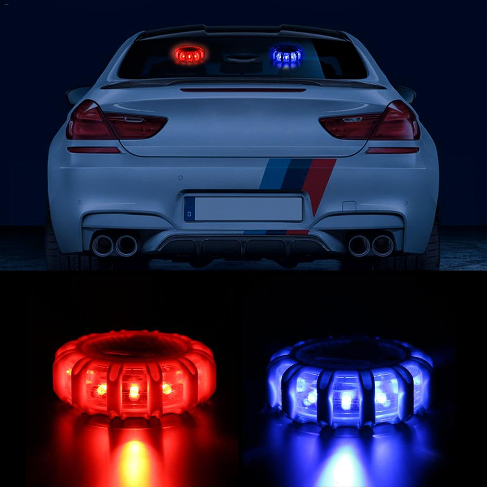 10 Modes Red Blue LED Warning Light Multi-functional LED Indicator Lights AAA Powered Traffic Safety Warning Indicator Lightings led electronic traffic lane control signal traffic lane indicator light with red cross