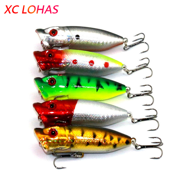 6.5cm 12g Topwater Floating Popper Lure Hard Plastic Fishing Poper Lures 3d Fish Eye Laser Artificial Bait Fishing Tackle PO030