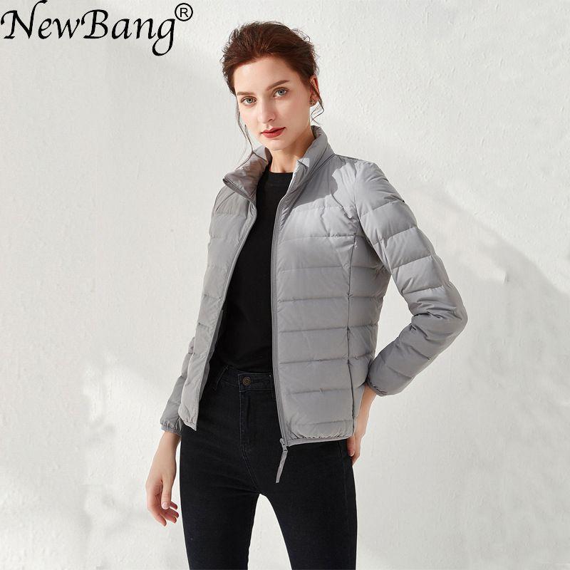 NewBang Women's Down Jackets Ultra Light Duck Down Women Matt Fabric Lightweight Coat Warm Female Windbreaker Parka Plus Coats