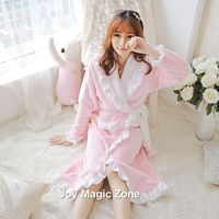 yomrzl A252 new arrival winter women's robe keep warm one piece sleepwear royal robe bath clothes indoor clothes