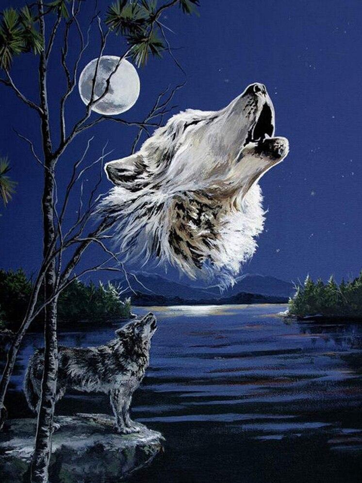 Картинка волк с крестом
