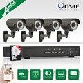Plug And Play Onvif 4CH NVR POE CCTV Sistema 2 TB HDD 1080 P HD H.264 Varifocal 2.8mm-12mm 78IR Bala POE Câmeras de Segurança Ao Ar Livre