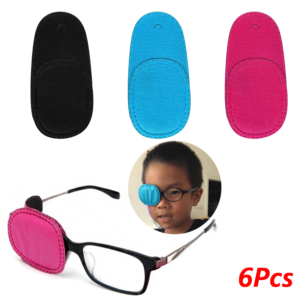 6Pcs/Pack Eye patch Amblyopia Eyeglasses Patches For Kids Strabismus Treatment Vision Care Kit Children Health Care kids Supplie