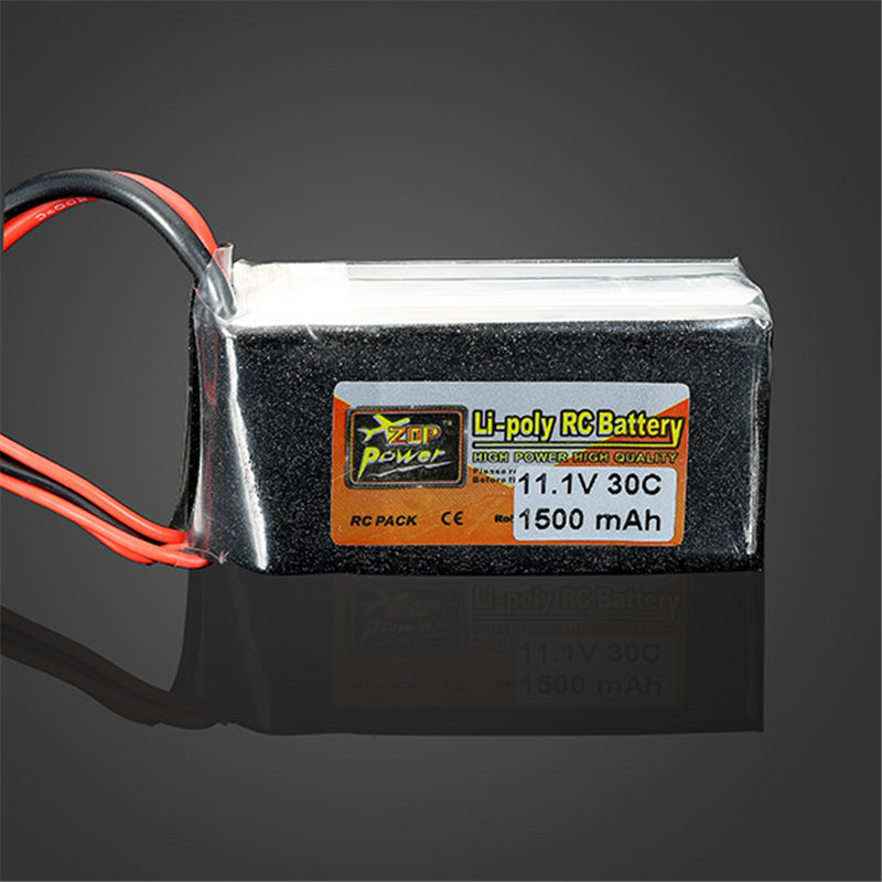 High Quality ZOP Power 11.1V 1500MAH 30C Lipo Battery T Plug 23x36x70mm For RC Helicopter Toy Model Parts Accessories high quality zop power 14 8v 2200mah 4s 45c lipo battery t plug rechargeable lipo battery for rc helicopter part