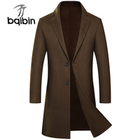 Новые модные зимние двусторонний 70% Шерстяное пальто Для мужчин чисто ручной работы среднего кашемир Повседневное Однобортный Роскошные п