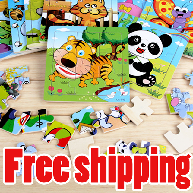 free shipping kids jigsaw puzzles children educational smart game