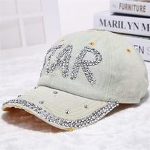 Fashion Top Quality Women's Baseballcap Plain Snapback Diamond Embroidery Caps Female Cowboy Hat Lady's Vogue Hats Sun Hats