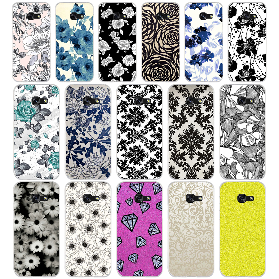 39aq Black And White Flower Wallpaper Soft Silicone Tpu Cover
