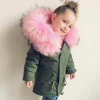 Girls Boys coat Children's Clothing Infant Parka Faux Fur Hooded baby kids Clothes 2019 fashion autumn Winter Jackets snow wear