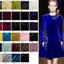 Tela de terciopelo de seda para vestido, 140cm de ancho, 30 colores