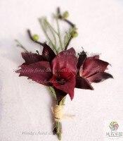 Sztuczne kwiaty ślub kwiat corsages oczyszczenie fioletowy storczyk