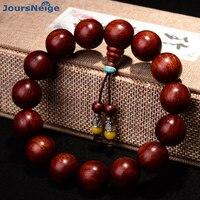 Natural Lobular Red Sandalwood Bracelets 15mm/18mm/20mm Beads Fine Carved Buddhist Buddha Bracelet Wood Bracelet Jewelry