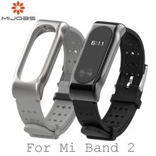 Dla Xiaomi Mi Band 2 pasek sportowy nadgarstek metalowy pasek dla Miband 2 wymiana opaski na nadgarstek inteligentna opaska akcesoria dla Mi band 2 tanie tanio MIJOBS Pasek na nadgarstek english Dla dorosłych Wszystko kompatybilny replace strap