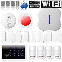 Chuangkesafe Chuangke W1 WiFi PSTN Sistema de Alarma Antirrobo teléfono APP Control remoto para 185 Kits de Seguridad Para El Hogar