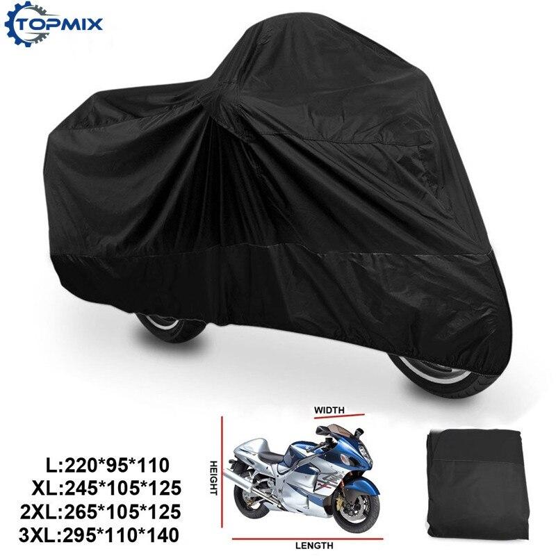 Motorcycle Motor Cover XXL Waterproof Outdoor Rain Dust Protector Black US Ship