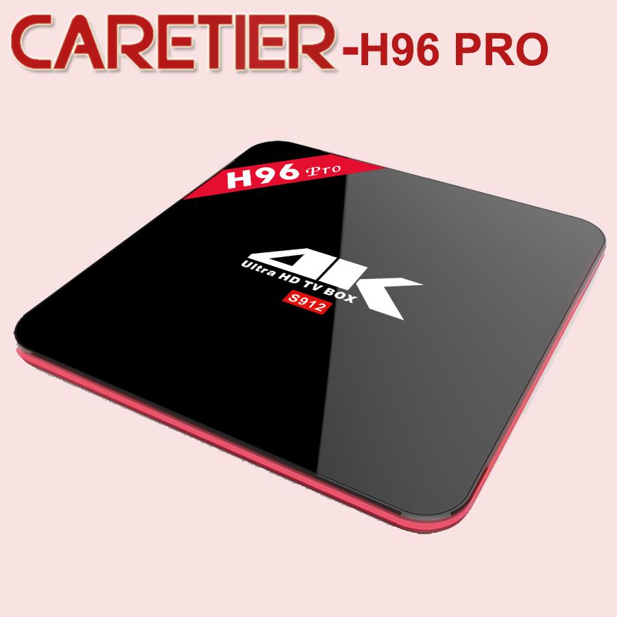 Prix pour 1 PC H96 PRO TV Boîte Android6.0 Amlogic S912 OctaMali-T820MP3 GPU 2 GB 3 GB 16G wifi Gigabit 1000LAN Bluetooth4.0
