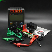 Cheapest prices Digital Insulation Resistance Tester Meter UNI-T UT512 Megohmmeter Low Ohm Ohmmeter Voltmeter Auto Range With Toolbox