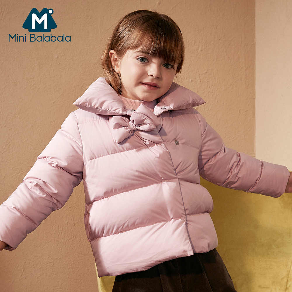 66d28ea14 Mini Balabala Kids Toddler Girls Puffer Jackets Down Jackets Coat For  Children Winter Warm Outerwear Clothes with Bow Decor