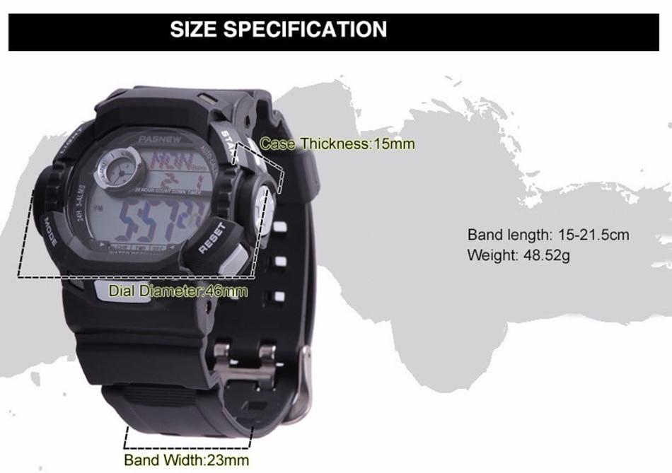 2018 Free Shipping Fashion Men Watch Waterproof Sport Men Wristwatch S Quartz Digital Boy Clock Relogio Masculino (3)