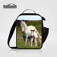 Dispalang niños bolsa de almuerzo para los niños animal caballo imprimir almuerzo caja de la Bolsa de Comida Con Aislamiento Térmico Para Los Niños Niñas Luncnbag para escuela
