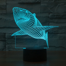 7 Colors Change LED Night Light Projector 3D Lamp Atmosphere Night Light Body Color USB Desk Decor Lamp For Children Kids Gift icoco usb charging led hourglass night light time record atmosphere sandglass desk lamp gift 2018 new version