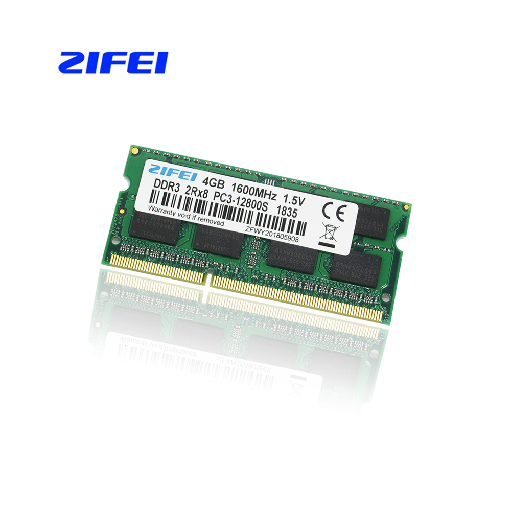 ZIFEI Ram DDR3 4GB 4g 1600 MHz Laptop Memory 204pin 1.5V PC3-12800 sell 8gb 8g 1600MHZ for intel and amd цена и фото