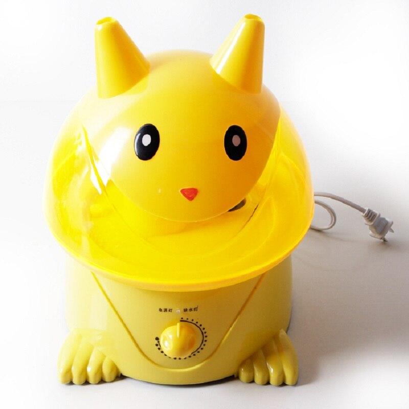 ФОТО 100%Original Cartoon Mist Maker Humidifier Anion Silence Aroma Purified Air For Home Office Cute Pikachu Mist Maker