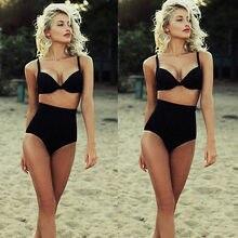 High Waist Swimsuit Padded Bikini Vintage Swimwear Push Up Biquini Brazilian Bathing Suit Beach Wear Cloth