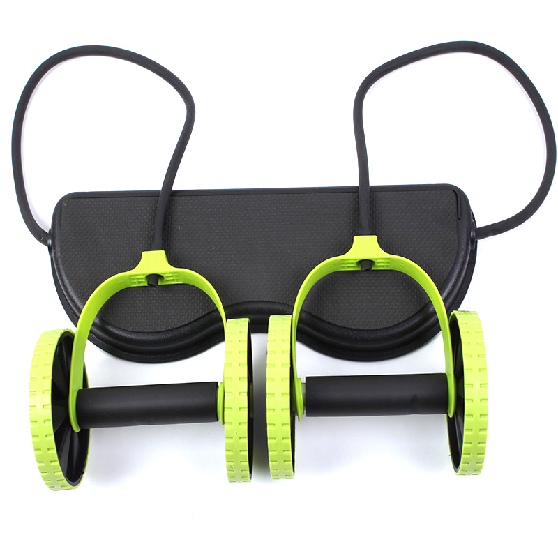 AB Wheels Roller Stretch Elastic Abdominal Resistance Pull Rope Tool AB roller for Abdominal muscle trainer exercise 16