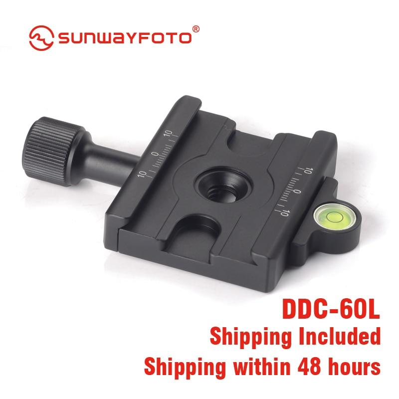 SUNWAYFOTO DDC-60L Statiefkop Snelkoppelingsplaat Voor DSLR-tripode - Camera en foto - Foto 5
