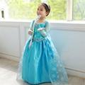 Elsa Vestido para Las Niñas de Manga Larga Vestido de Partido de Los Niños Vestidos de Princesa de Las Muchachas Vestido de Los Niños Elsa Traje Ropa Niñas Vestidos