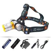 Diving Headlamp Mini Flashlight Underwater Scuba Diving Head Torch XML T6 3800 Lumens LED Headlight Waterproof Swim Lamp Light