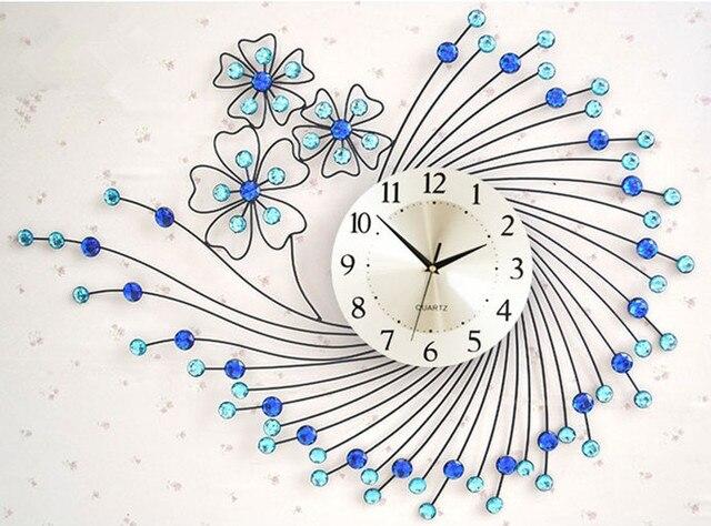 Fashion wall clock modern art clock mute tieyi Large electronic quartz clocks and watch