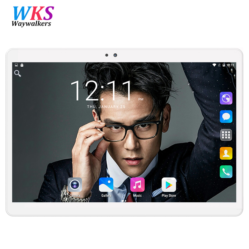 2018 WAYWALKERS Free Shipping Android 3G Phone Call 9.6 inch Tablet pc 10 Quad Core 4GB RAM 16GB ROM IPS 1280X800 5MP Tablets