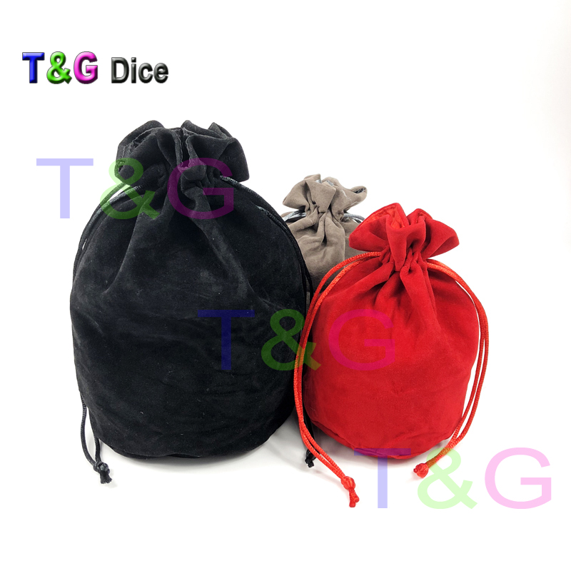 TOP Quality Dice bag Jewelry Packing Velvet    Drawstring s & Pouches for packing gift game 3 colors Board Game
