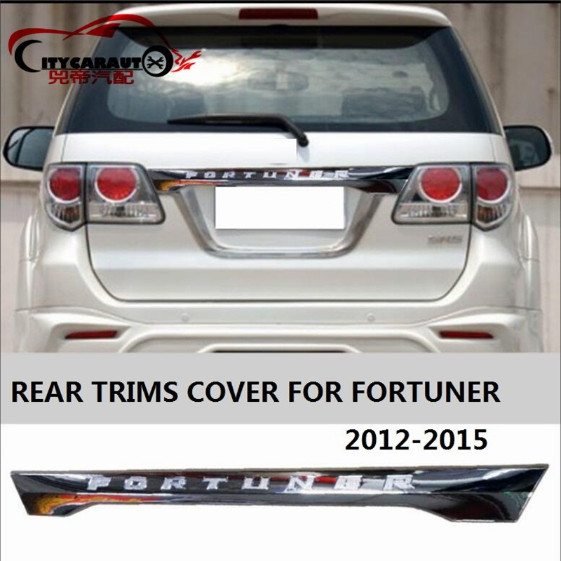 CITYCARAUTO Chromium Styling REAR TRIMS STICKER COVER AUTO ACCESSORIESS CAR STYLE REAR TRUCK COVER FIT FOR TOYOTA FORTUNER 2012 auto 1 pc car styling universal rear mirror rain board eyebrow visor shade shield water guard for car truck free shipping so 16