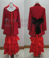 Black Butler Madame Red Full Lolita Dress Cosplay Costume Any Size
