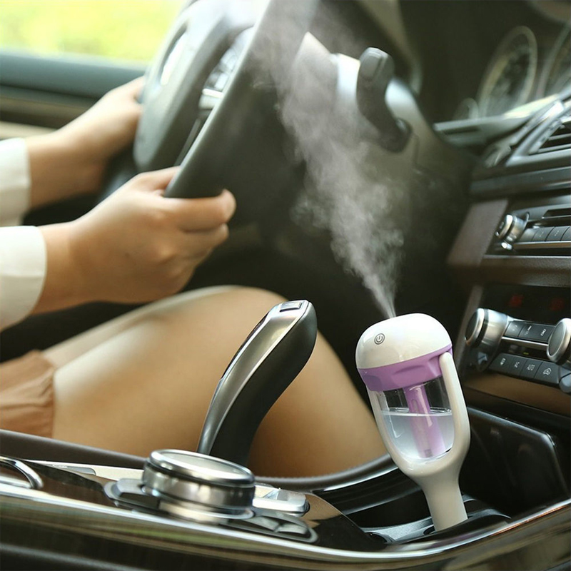 Fragrance Diffuser Car Aroma Essential Oil Diffuser Humidifier Aromatherapy Portable Car Air Humidifier Cool Mist Parfum Diffus