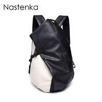 Nastenka Brand Men Backpack Leather Men Casual Daypacks Male School Bags For Teenager Sac a Dos Fashion Women Backpacks Mochila