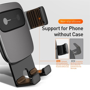 Image 5 - Baseus car holder for iPhone X XR XS Samsung S9 car mount gravity holder for all mobile phone in car air vent mount holder