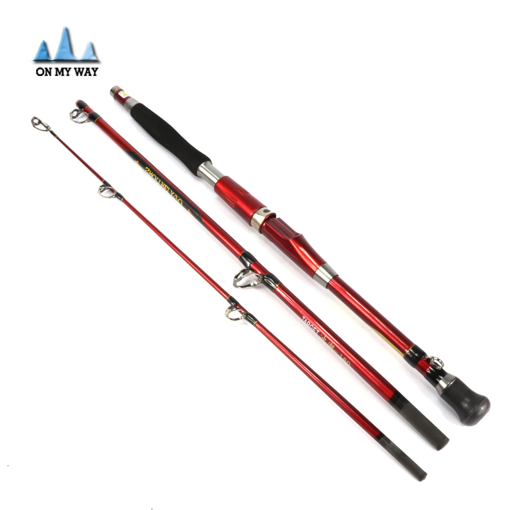 ФОТО New 3 sections 1.8m super hard spinning fishing rod carbon lure rod  spinning rod fishing spinning rods 2-5LB line weight