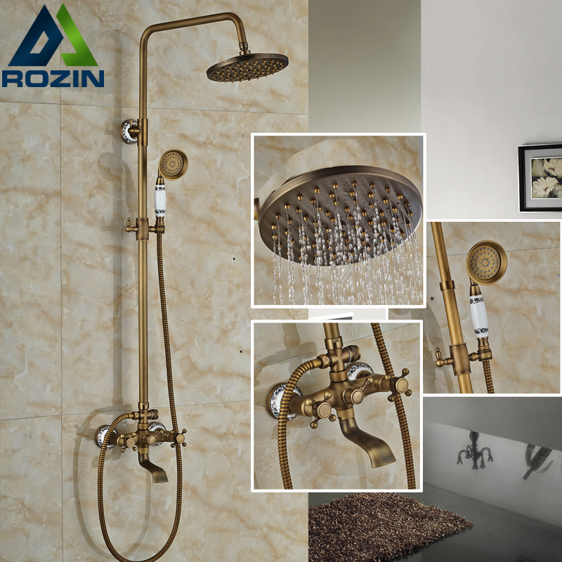 Best Quality In wall Outdoor 8 Rainfall Shower set Bath and Shower Mixer Faucet Dual handles