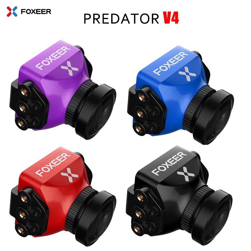 Câmera FPV Predador V4 Foxeer Corrida Zangão Mini Camera16: 9/4: 3 PAL/NTSC comutável Super WDR OSD 4 ms Latência Upgarded PredatorV3