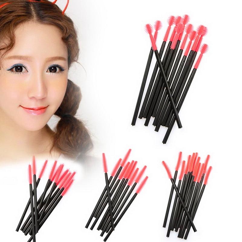 Microbrushing one-time Cosmetic Makeup Brushes Set 50pcs Makeup Cosmetic Disposable Eyelash Brushes Mascara Wand Applicator Kit tecna cosmetic makeup eyelash lengthen curler mascara black