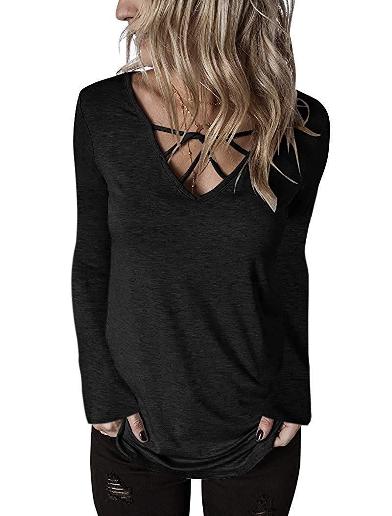 35 pièces femmes vcou haut manches courtes décontracté T Shirts2019 Polyester coton Lycra