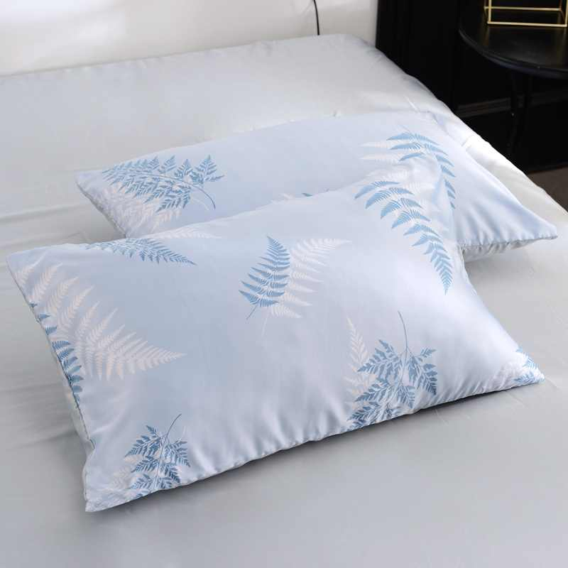 Washed Silk Luxury Nordic Style 4pcs Bed Duvet Cover Bed Sheet Pillowcase Azure Pink Leopard Print White Black Wave Point